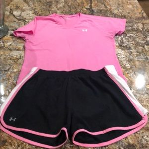 Under armour running athletic shorts